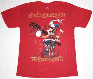 BRUCE DICKINSON ACCIDENT AT BIRTH97 IRON MAIDEN HEAVY METAL NEW RED T