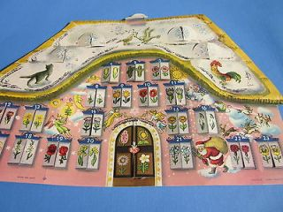 VINTAGE CHRISTMAS Western German ADVENT CALENDAR