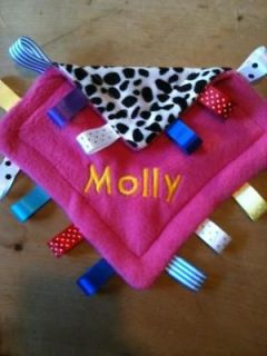 Personalised Taggy Blankie, Comforter, Animal Prints, Baby,Toddler