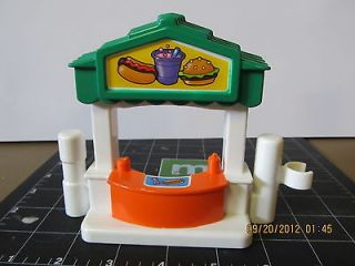 FISHER PRICE LITTLE PEOPLE HOT DOG BURGER STAND SIDE PIECE CARNIVAL