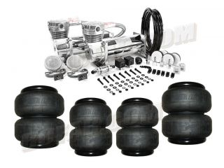 AIR LIFT Air Bags w/ VIAIR 380C Chrome Dual Compressor Pack & FREE