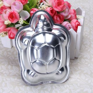 Aluminum Turtle Shape Cake Mould Chocolate Jello 3D Pan Mold Tin 3.45