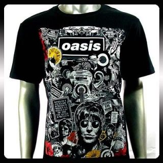 Oasis Alternative Rock Band Music Punk T shirt Sz L Men OA5