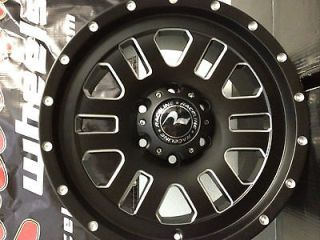 17 Inch Black Raceline Clutch Wheels Rims Chevrolet Silverado Tahoe