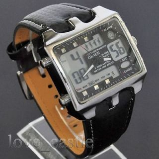 OHSEN classic New Diving LED Date Analog Digital Quartz Band Watch W67