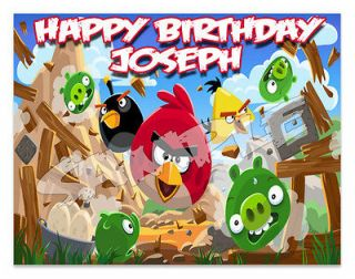 Angry Birds Edible Image Cake Topper Personalized