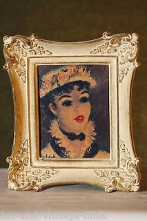 HULDAH Cherry Jeffe Small FRAMED Wall PORTRAIT Print Oil Painting