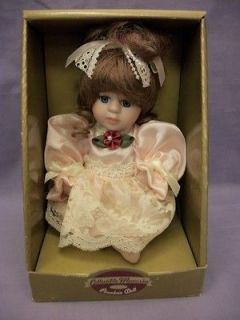 Collectible Memories Hand Crafted & Jointed Fine Bisque Porcelain Doll