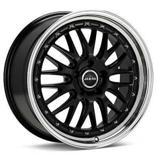 18 Axis Rev style Black Wheels Rims Staggered Fit Lexus MDX5 FX Q45