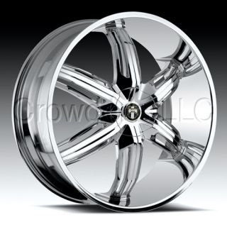 DUB Car Truck Wheel Rim Drone6 Chrome 18 inch 5 Lug