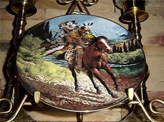 Tom Beecham CHARGING WARRIOR Indian HORSE Franklin Mint Plate
