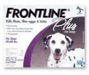 Newly listed FRONTLINE PLUS for dogs 45 88lbs 3 pack THANK YOU