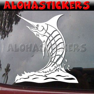 PACIFIC BLUE MARLIN Big Game Fishing Car Graphics Vinyl Decal Window