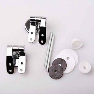 Newly listed CHROME PLATED UNIVERSAL TOILET SEAT HINGE SET With Screws