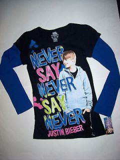 NEW NWT Justin Bieber Girls Tunic Top Shirt clothes size 8 10 12 14