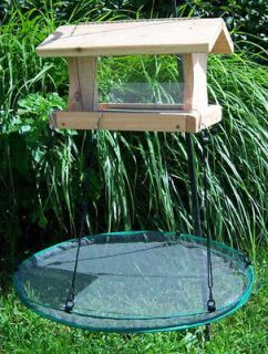 Seed Catcher Platform Bird Feeder Mounts on Hanging or Pole Feeders