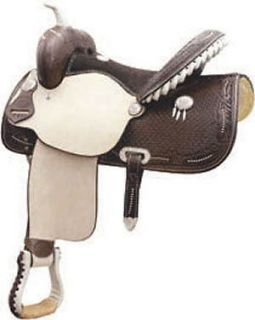 Billy Cook 15 Spotted Feather Barrel Racer Saddle