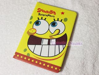 New ipad mini SpongeBob squarepants Leather protective Case Cover fold