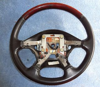 OEM Ford 03 06 Lincoln LS Black/Charcoal Wood Grain Steering Wheel
