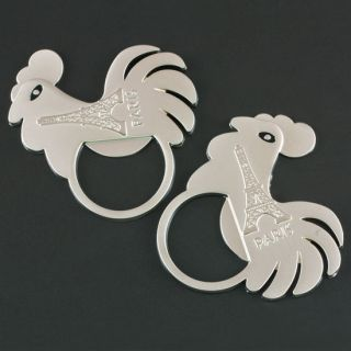 Chicken Rooster Eiffel Tower Refrigerator Fridge Magnet Bottle Opener