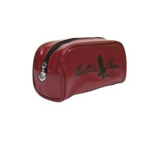 78021 Bettie Page Brick Red Makeup Case Holder Pin Up Pinup Rockabilly