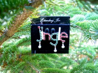 Eisenberg Ice Crystal Christmas Jingle Brooch   Pin