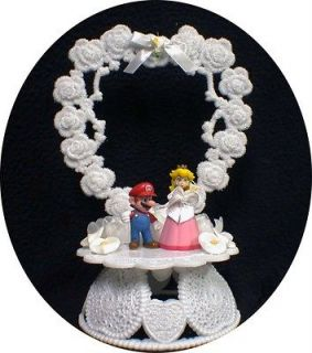 Super MARIO Princess Wedding Cake Topper TOP Princess Peach groom top