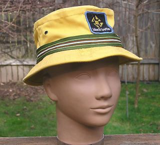 Canvas Pork Pie Summer Hat Mens Size Small/S Black Butte by ACE USA