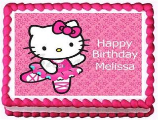 HELLO KITTY Edible image frosting cake topper decoration