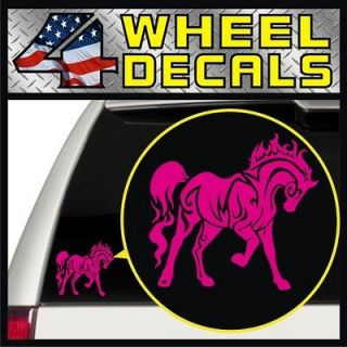 Horse Vinyl Decal / Sticker Bumper Window Pickup Jeep Girl (Pink