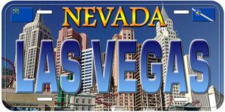Las Vegas Nevada Tag Car Novelty License Plate 6B