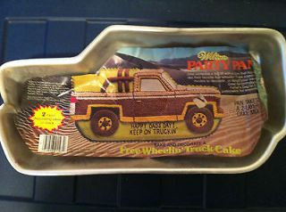 Free Wheelin Truck Cake Pan Wilton from 1980 Pan # 502 1565 Rare