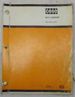 Case W11 Front End Wheel Loader Parts Manual Catalog # A1364