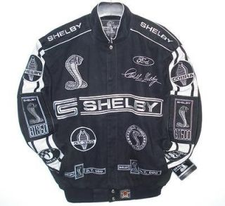SIZE L FORD MUSTANG Shelby Cobra Racing EMBROIDERED Jacket JH DESIGN
