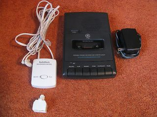 GE Portable Recorder/Cassette Player 3 5027 + Radio Shack Recording