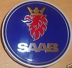 SAAB ALLOY WHEEL CENTRE CAP EMBLEM SET OF FOUR BRAND NEW GENUINE 9 3 9