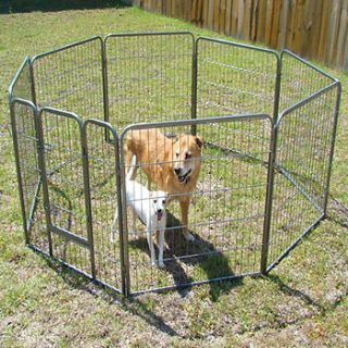 Portable Heavy Duty Pet Playpen Dog Exercise Pen Cat Fence 8 panel 32