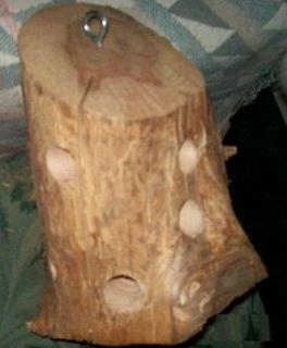 THE BIG ONE  NEW ALL CEDAR WOOD SUET BIRD FEEDER LOG LAST FOR LONG