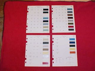 1968 GM CHEVROLET CORVETTE PONTIAC OLDSMOBILE BUICK COLOR PAINT CHIPS