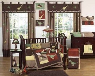 JOJO DESIGNS CHEAP DINOSAUR BROWN BABY BOY CRIB BEDDING COMFORTER SET