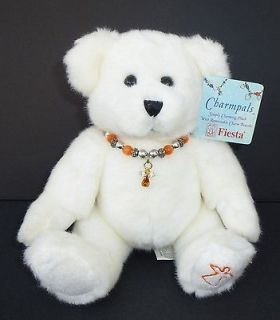 CHARMPALS White Teddy Bear Plush Angel Charm Bracelet Stuffed Toy