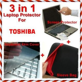 Satellite Screen Protector+Keyboard skin Silicon Cover+Sleeve Case