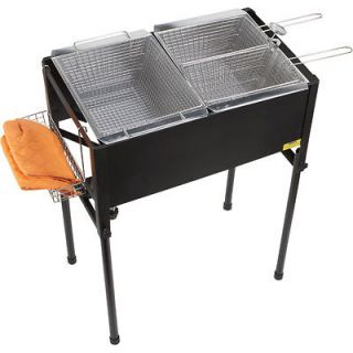Outdoor Triple Basket Deep Fryer Cooking Propane Stainless Steel Cast