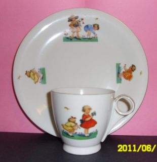 ROYAL EPIAG CZECHASLOVAKIA CHINA CHILDS CUP & PLATE