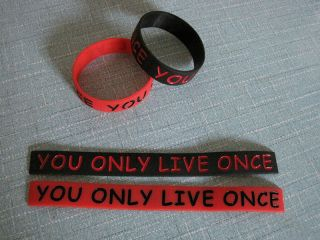 Only Live Once Drake Wayne Young Money YMCMB Rap Silicone Wrist Band