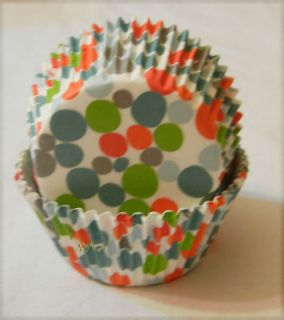 72ct Colorful Green Dot Cupcake liners baking Paper Cup