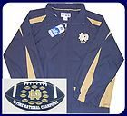 NOTRE DAME FULL ZIP LINED WINDBREAKER JACKET & MAGNET