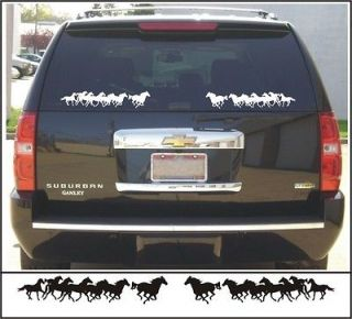 Decal kit SMALL RUNNING HORSE GROUP for horse truck & trailer BLACK