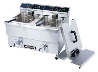 ADCRAFT DF 12L/2 Commercial Double DEEP FRYER 50lbs/hr