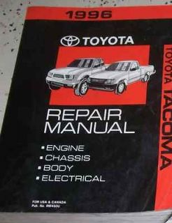 1996 TOYOTA TACOMA TRUCK Service Shop Repair Manual OEM DEALERSHIP